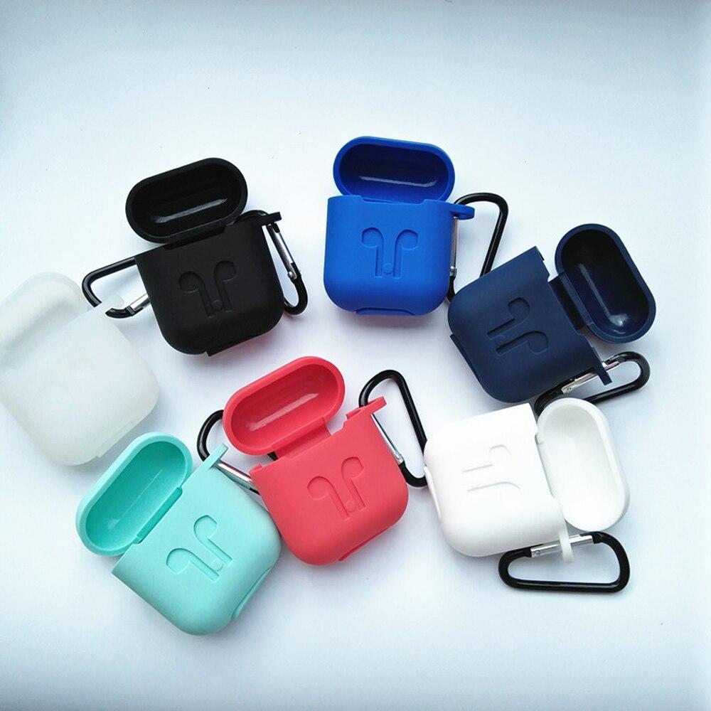 Anti Lost Earphone Silicone Case Apple Airpod Headphone Case For Earphone Accessories