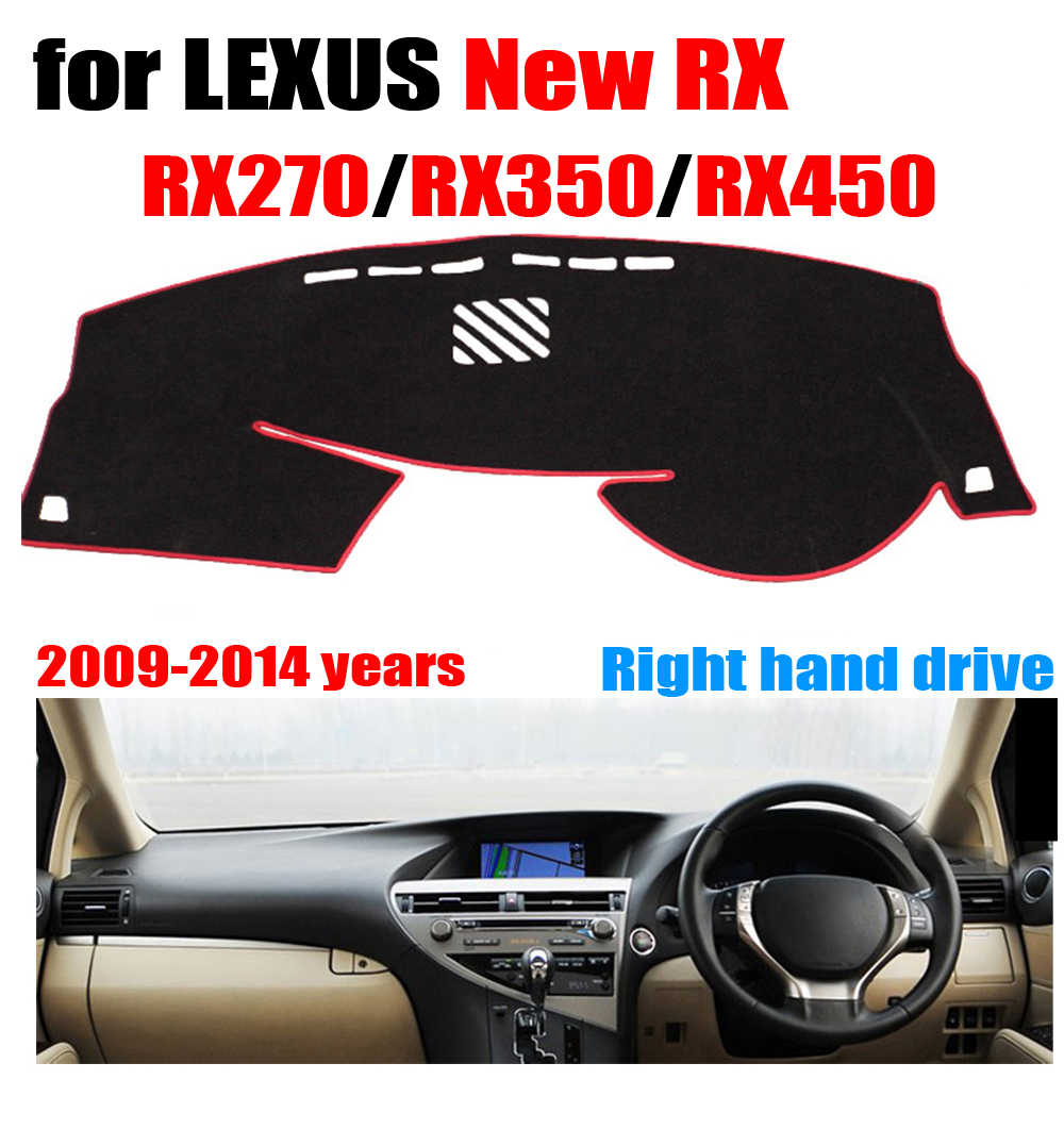 RKAC Car dashboard cover mat For LEXUS new RX RX270 RX350 RX450 2009 2014 Right  hand drive dashmat
