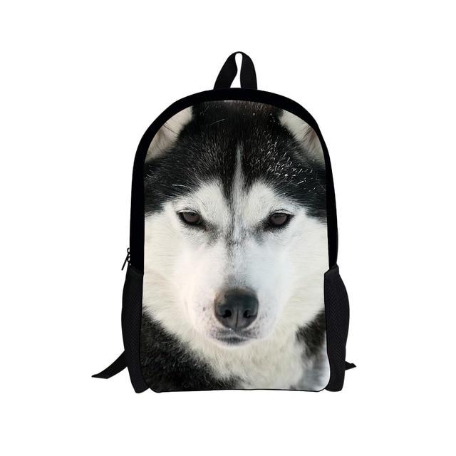 Cool 16 inch Children School Bags Animal Dog Print School Bags for Boys Cool Kids Schoolbag Child Book Bag mochila infantil