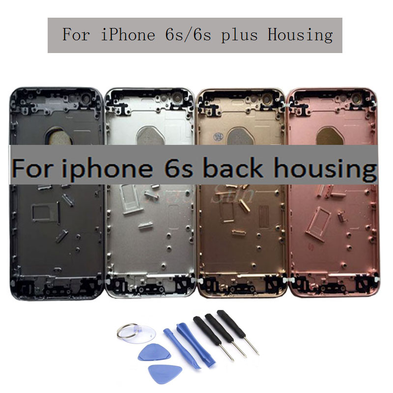 New Back Cover For Iphone 6s/6s Plus Back Housing Battery Cover Rear Door Case Middle Chassis Frame With Side Buttons Assembly