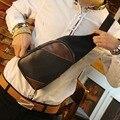 Cuero de LA PU de la vendimia hombres de pecho bolsas de gran tamaño de diseño de la venta caliente hombre bolso de la cintura, crazy horse estilo Europa ocasional masculina bolsa riñonera