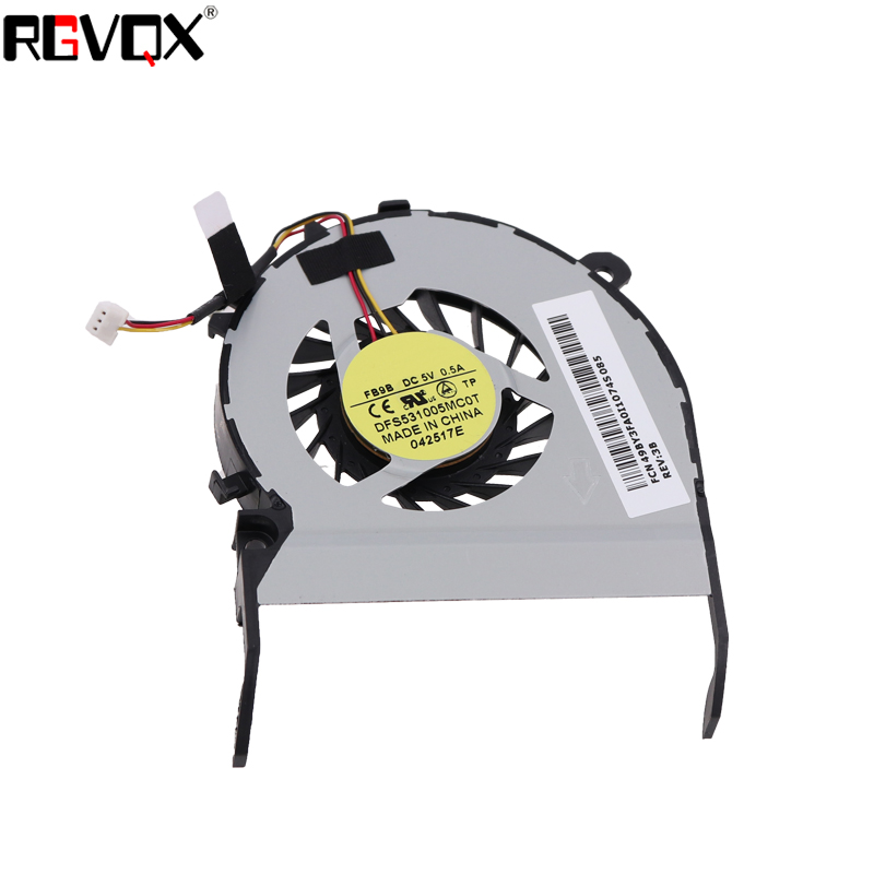 Купить с кэшбэком New Laptop Cooling Fan for Toshiba L800 L800-S23W L800-S22W P/N MF60090V1-C430-G99 DFS531005MC0T CPU Cooler Radiator