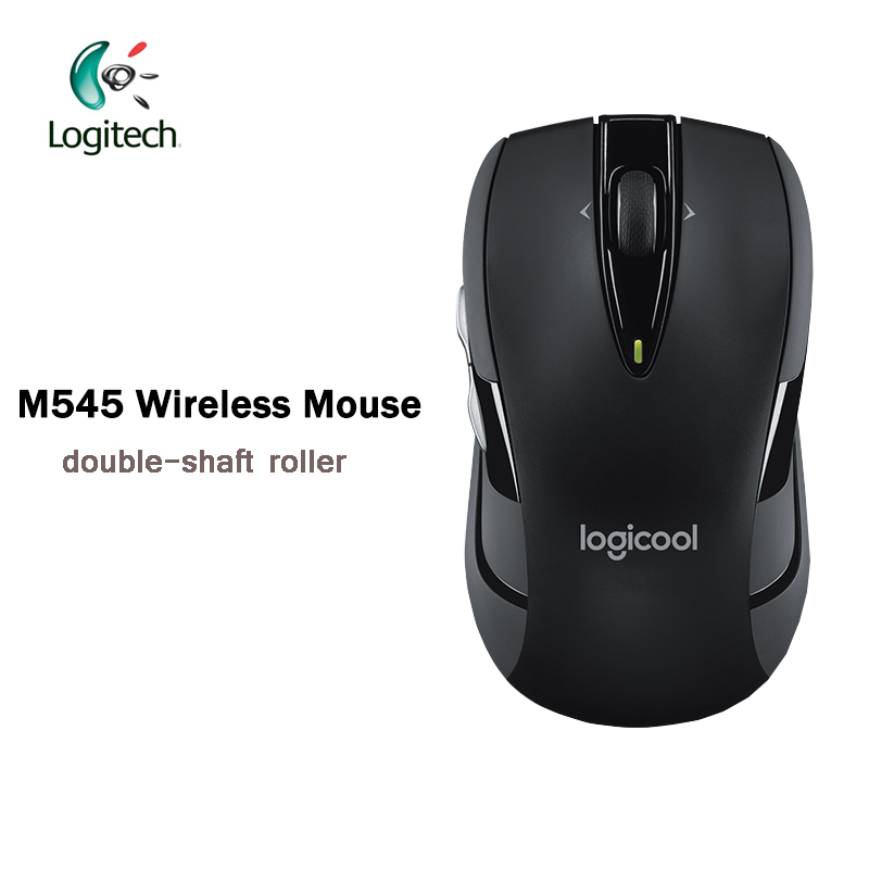 Logitech M545 Wireless Mouse 2.4Ghz with 75g Black / Blue for PC Game Office Mouse for Home Use Support Official Verification new multifunctional game mouse 3200dpi adjustable mouse built in stereo speaker 3 5mm audio jack support handwritten for pc