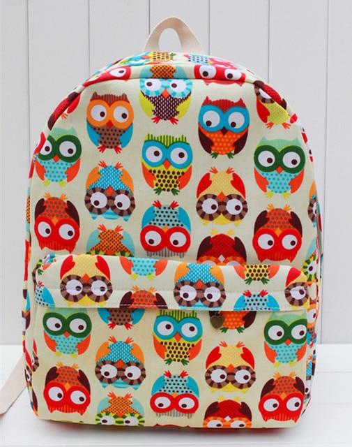 mens school backpacks women bag s schoolbags owl printing children school bag for teenagers mochila bolsa - Printing With Children