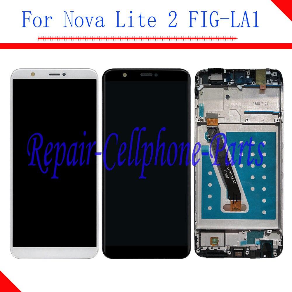 D'origine écran LCD Full + écran Tactile digitizer assemblée Avec Cadre Pour Huawei Nova Lite 2 FIG-LA1 (pas pour Nova lite)