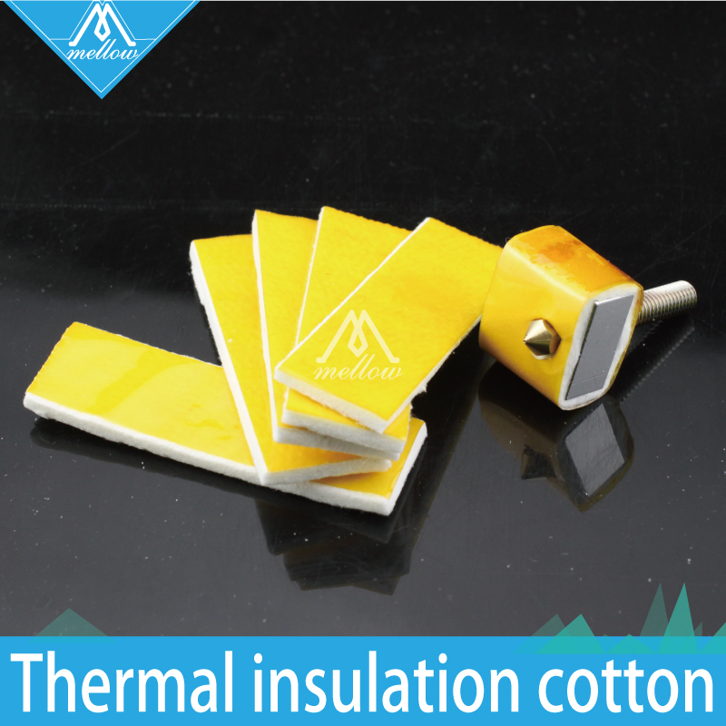 HOT!10PCS 3mm Thick Thickness 3d Printer Heating Block Cotton Hotend Nozzle Heat Insulation Cotton For Ultimaker/Makerbot