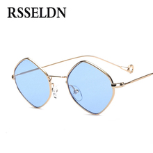 RSSELDN Newest Men Vintage Sunglasses Women Small Frame 2017 Ocean Purple Pink Clear Blue Sun Glasses Metal Frame UV400