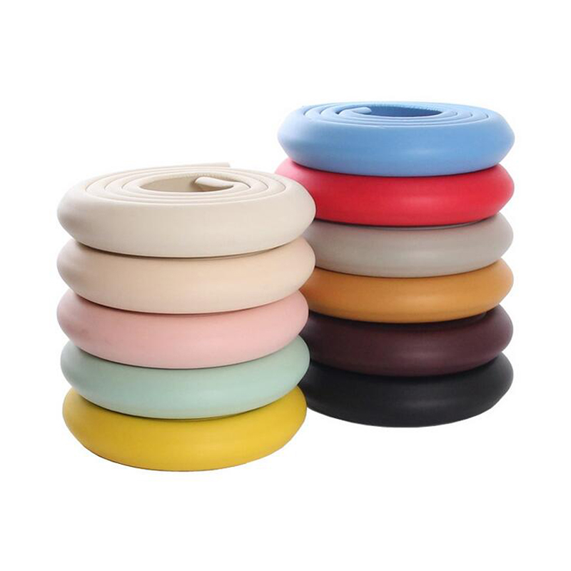 2m Thick Soft Child Kids Baby Toddler Safety Protection Cushion Pads Desk Table Wall Stair Edge Corner Security Guard Strap Bar