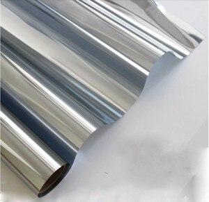 Серебряная изоляционная оконная пленка, 10 м, светоотражающая, с солнечной батареей, с одной стороны, зеркальные цветные наклейки на окна для...