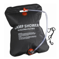 H0062 Free Shipping Selling Outdoor Camping 20L Solar Shower Bag Super Light Green Has No Smell