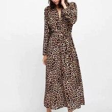 0519d9fe16aef HOT Leopard Print Women Dress New Summer Fashion V-Neck Cotton Dress Sexy  Nightclub Split