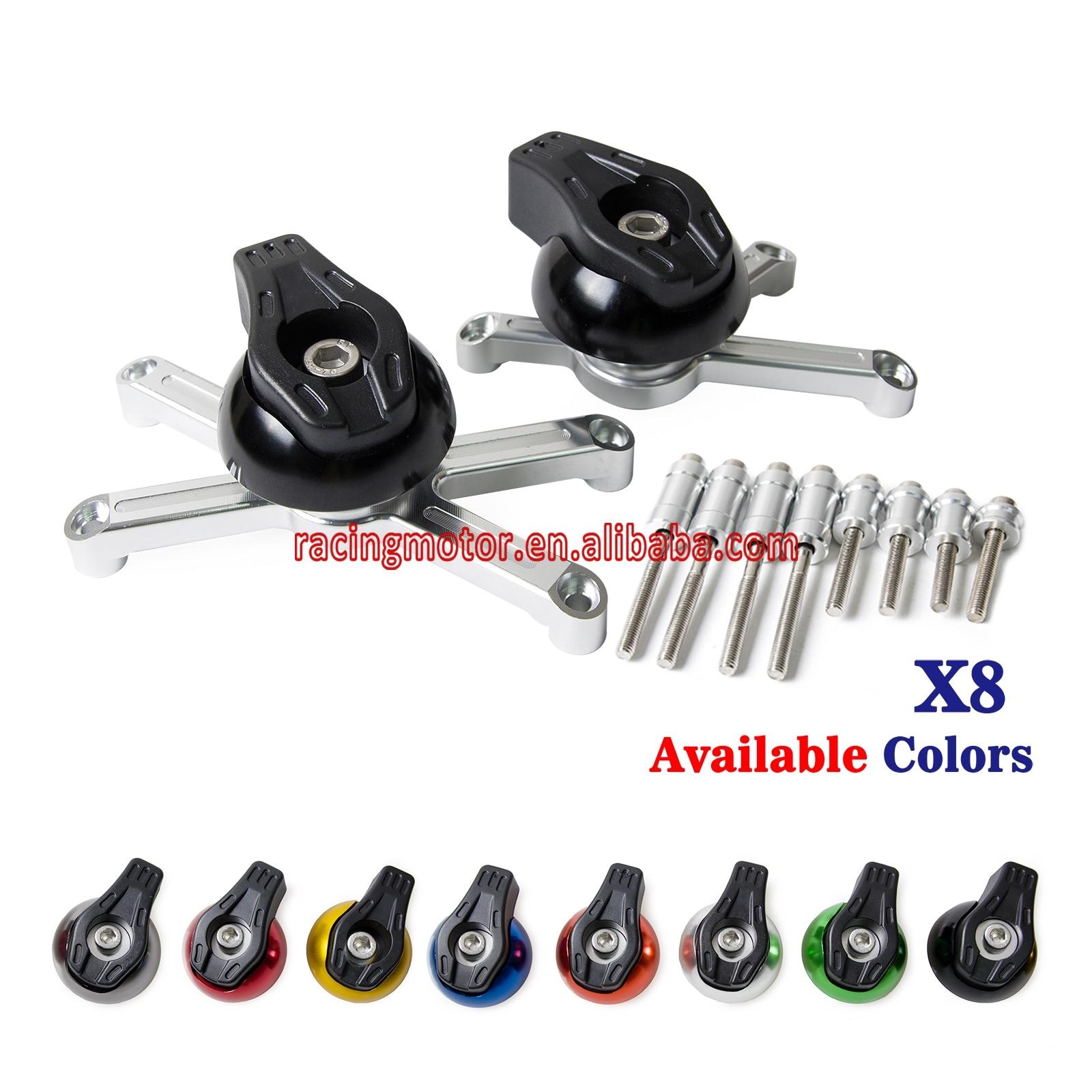 ЧПУ алюминиевая рама ползунки краш колодки протектор для Suzuki GSXR600 GSXR750 2006-2012 2006-2011 системы GSX-r600 о системы GSX-750 Рандов