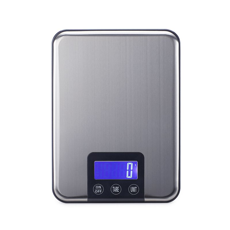 15кг 1г Голяма Електронна Кухненска Везна Тънка LCD Неръждаема Стомана Цифрова Храна Готвене Тегло Салдо Мащаб Макс.