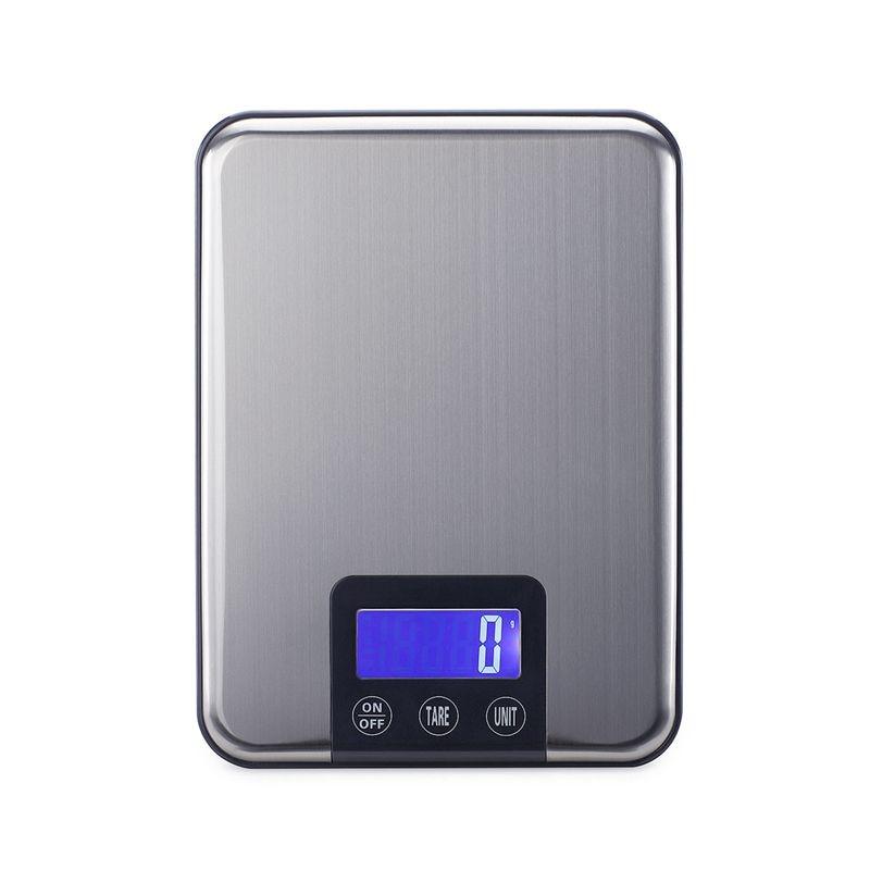 15kg 1g Μεγάλες ηλεκτρονικές ζυγαριές κουζίνας Slim LCD από ανοξείδωτο χάλυβα Ψηφιακό φαγητό Μαγειρική Ζυγαριά βάρους Κλίμακα Μέγιστη χωρητικότητα 15kg