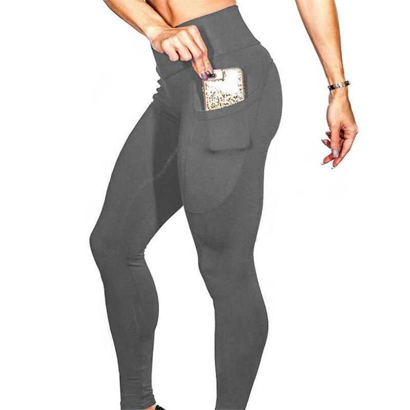 High Waist Out Pocket Yoga Pants Tummy Control Workout Running 4 Way Stretch Yoga Leggings Sports Gym Yoga Pants in Yoga Pants from Sports Entertainment