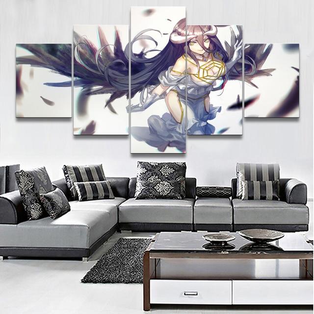 аниме Шелковый Плакат гобелен Overlord Владыка