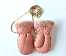 New Heavy Type Sheep Fur Warm Gloves Girl 2019 Winter Children Boys Genuine Leather Gloves Mitts 2-5 Years Sheepskin Fur Gloves