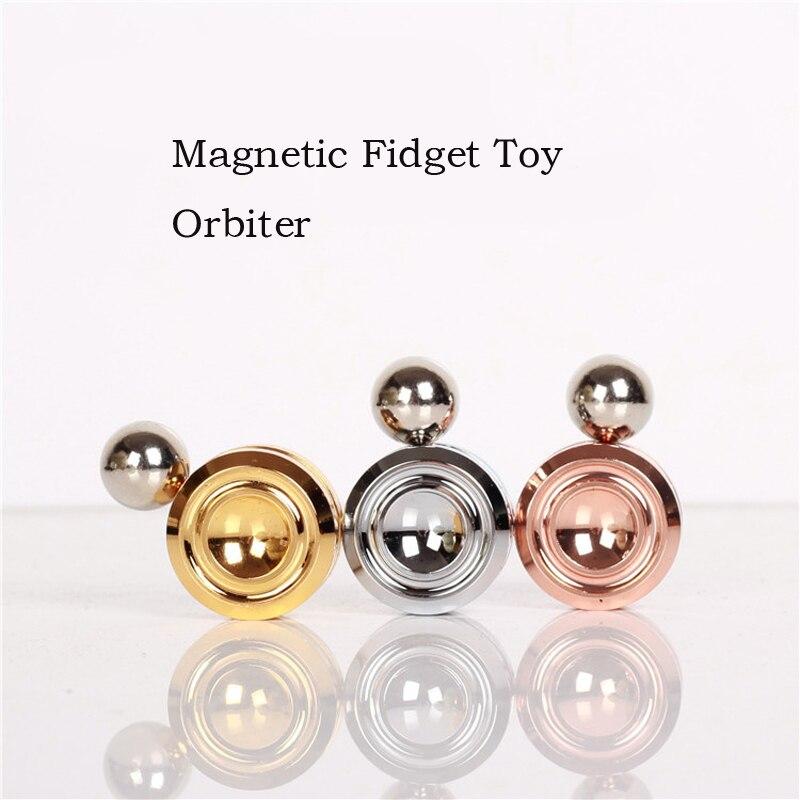 Mamadada Magnetic Fidget Orbiter Children Anti stress Finger Toy Orbiter With Steel Ball Metal Spiner Fidget