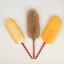 3 Styles Wool Material Lint-free Duster Bamboo Handle Household Cleaning Duster Adjustable Telescopic Office Car Dust Brush