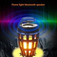 Flame Bluetooth Speaker Light Led Torch Light Creative Smart Bluetooth Speaker Wireless Portable USB Charging Candle Night Light