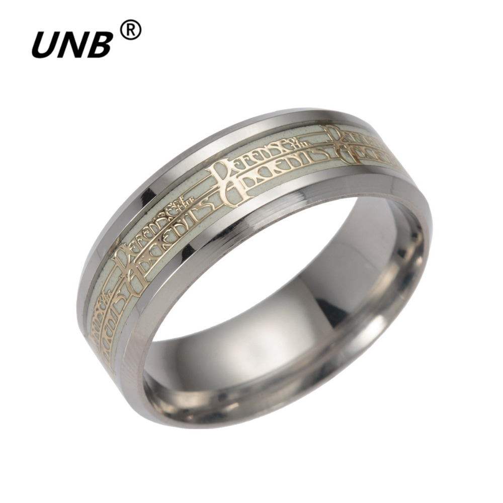 Unb Fashion Stainless Steel Dota 2 Anime Game Rings For Men Glow In The Dark  Male Spinner Ring Charm Party Jewelry Drop Shipping Wholesale Ring For Rings