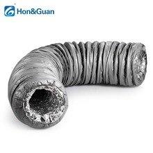 Хон и Guan 4 »~ 8» воздуховод глушитель низкая Шум гибкий шланг вентиляции изоляцией Алюминий воздуховод для кондиционера, длина 1,2 м