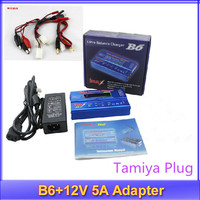 IMax B6 free shipping Digital LCD Lipo NiMh battery Balance Charger Tamiya Plug + Power Adapter 12V 5A no original box
