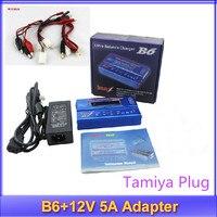 IMAX B6 бесплатная доставка цифровой ЖК-дисплей Lipo NiMh батареи баланс Зарядное устройство Tamiya штекер + Адаптеры питания 12 В 5A без оригинальной к...