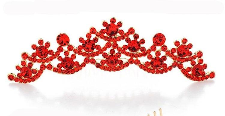 HIMSTAORY Ασημί / Κόκκινο ΝΕΟ Γάμος Νυφικό - Κοσμήματα μόδας - Φωτογραφία 5