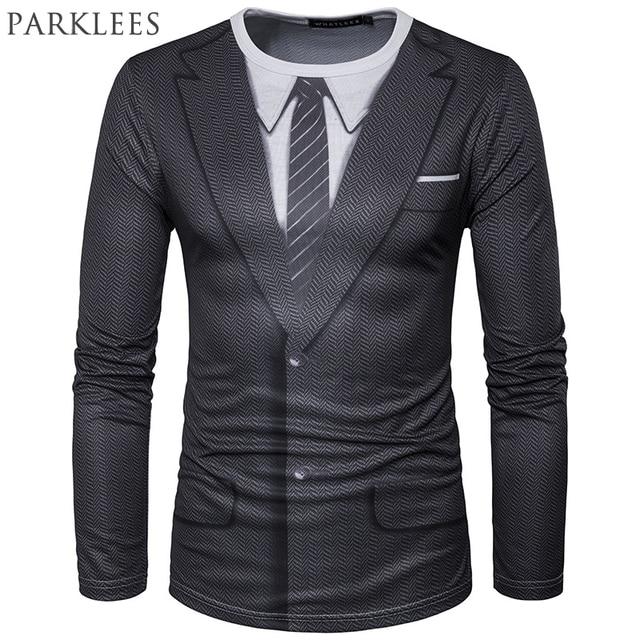 Faux Costume 3D Impression T Shirt Hommes 2017 Printemps Nouveau O Cou T-shirt  Homme e1be3047181