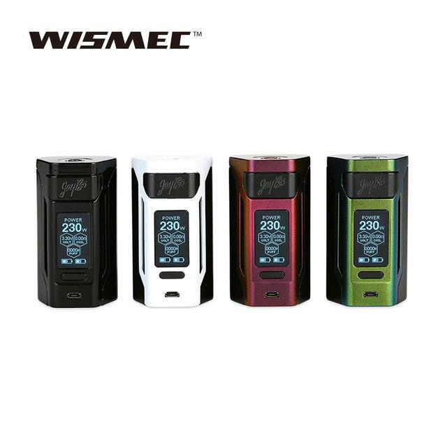Оригинальный WISMEC Рел RX2 21700 MOD Max 230 Вт Выход 1,3-дюймовый большой Экран RX2 TC MOD FIT Гном бак нет 18650 Батарея VS GEN3