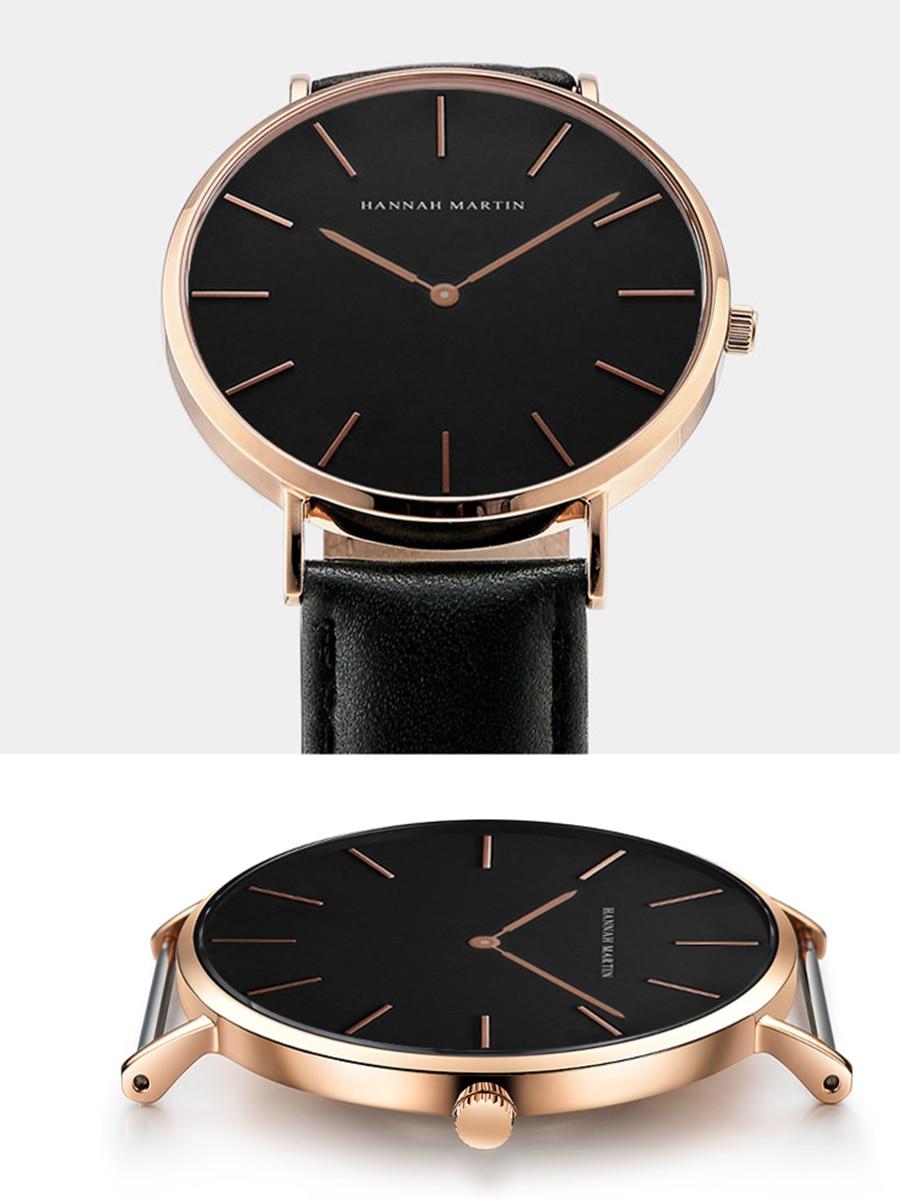 HTB1GfuAcpGWBuNjy0Fbq6z4sXXa3 Dropshipping High Quality Rose Gold Dial Watch Men Leather Waterproof Wristwatch Women Dress Fashion Japan Quartz Movement Saat