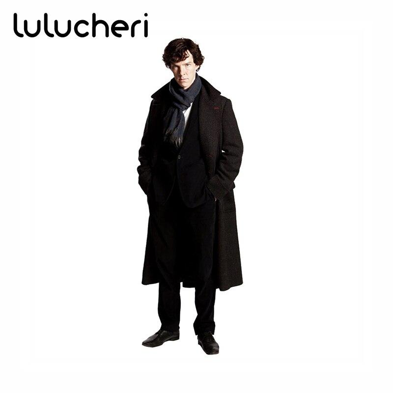Sherlock Holmes Cosplay Kostüm Jacke männer Cape Männer Langen ...