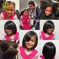 Pelos humanos queen beauty hair brasileña del pelo recto 4 bundles lote 7a sin procesar virginal recto de la armadura 100% manojos de cabello humano