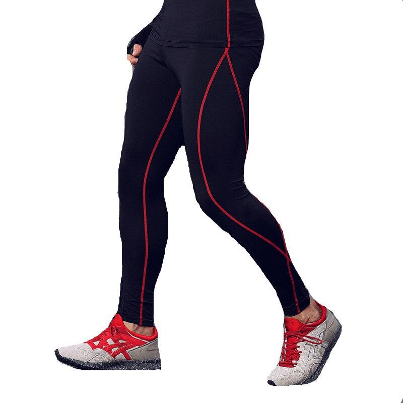 Mannen Compressie Panty Sportscholen Lange Broek Zwarte Broek Joggers Elastische Taille Slim Fit Mallas Hombre Fitness Pant Trainingsbroek