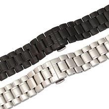 Nueva correa de reloj de correa 28 mm negro plata del acero inoxidable para SEVENFRIDAY reloj de pulsera pulseras pulidas reemplazo