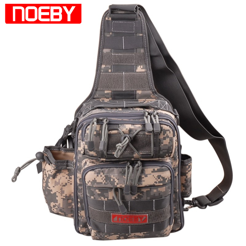 цена на NOEBY Fishing Bag 28*21*9.5cm Waterproof Outdoor Bagpack Multifunctional Waist Bag Bolsa Pesca Fishing Tackle Bag
