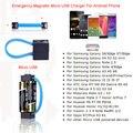 Magnética aa/aaa batería micro usb cargador de emergencia para samsung lg xiaomi huawei teléfono android