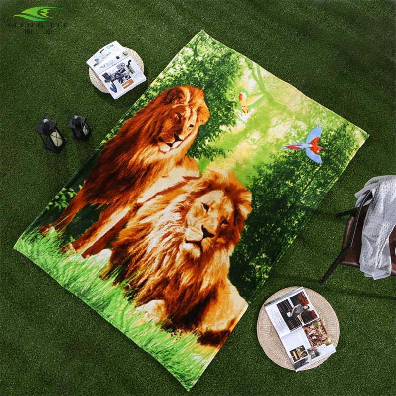Spartan Fleece Saddle Cover Animal Print: MING JIE 3d Animal Print Lion Fleece Blanket 150x200cm