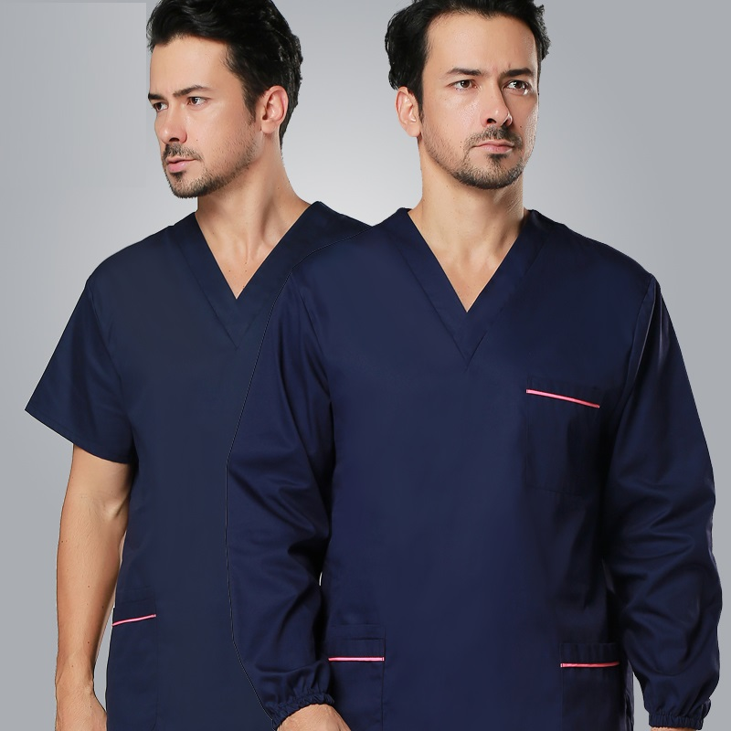 (10 Set Top&pant)Surgical Clothing Wash Clothes Scrub Suit Short-sleeve Two-piece Set Doctor Clothing Lab Body Suit Hospital