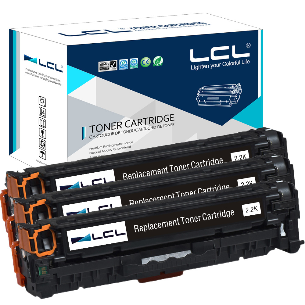LCL 305A CE410A CE 410 A CE410 410A  (3-Pack) Compatible Toner Cartridge for HP Laserjet300 color M351 M375nw M451nwM451dnM451dw