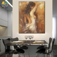 The Bathing woman CANVAS painting Hand Painted retro vintage nude painting special art gift for home decoration naked picture