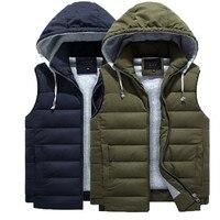 7XL plus size men's vest 4XL 8XL Free shipping winter loose cotton s man vest Outerwear & Coat with Hooded Hat Detachable