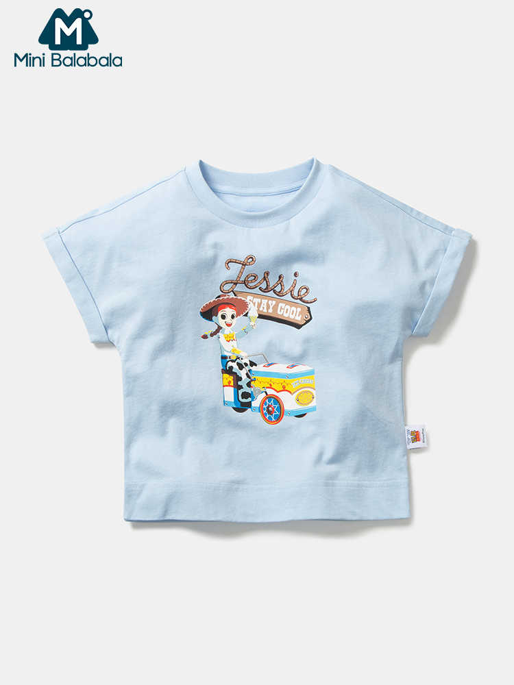 Mini balabala Children loose thin short sleeve T-shirt 2019 summer new boys and girls ip print cotton tshirt