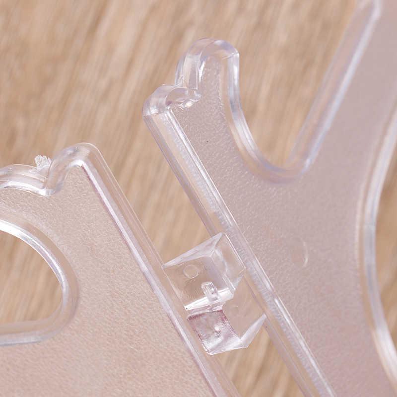 1 Pasang Plastik Teh Display Stand Rak Piring Piring Mangkuk Gambar Bingkai Foto Buku Alas Dudukan Dekorasi Rumah