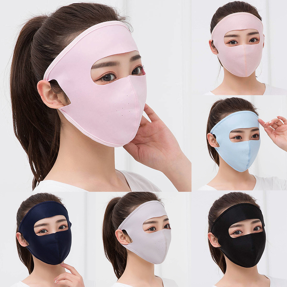 New Dust-Proof Mouth Mask Uv Protection Breathable Hollow Out Mesh Mask Unisex Summer Ice Silk Thin Sunscreen Full Face Masks