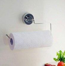 Bathroom Paper Towel Holder Suction Cup Stainless Steel Sucker Toilet Roll Waterproof Tissue Kitchen Organizer