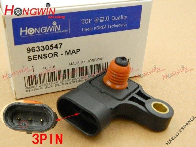 96330547 AS312 colector de presión absoluta Mapa de Sensor para Chevrolet Aveo Aveo5 Daewoo Kalos Matiz 2000-2006 Chevy Aveo 1.6L 04-06