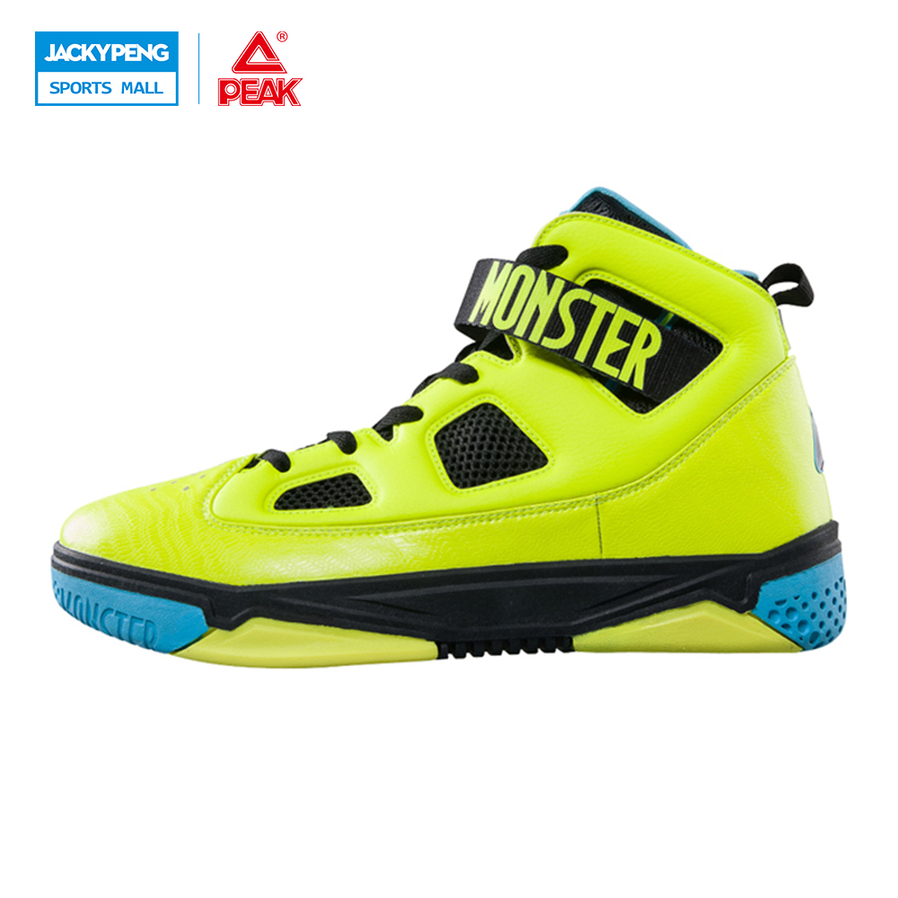 PEAK SPORT Monster 3.1 Men Basketball Shoes Professional Basketball Sneakers Support Sports Shoes Tech High-Top Ankle Boots peak sport men outdoor bas basketball shoes medium cut breathable comfortable revolve tech sneakers athletic training boots