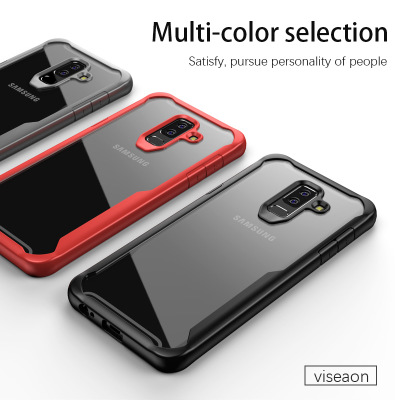 newest 8ffed 367e6 US $3.73 15% OFF|For Samsung Galaxy A6 A6Plus 2018 Case Soft  Silicone+Transparent PC Armor Protective Back cover Case for samsung a6  plus shell-in ...